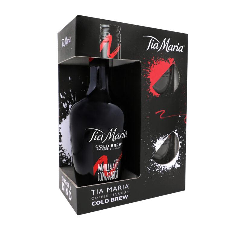 Tia Maria Coffee 70cl + 2 Glazen